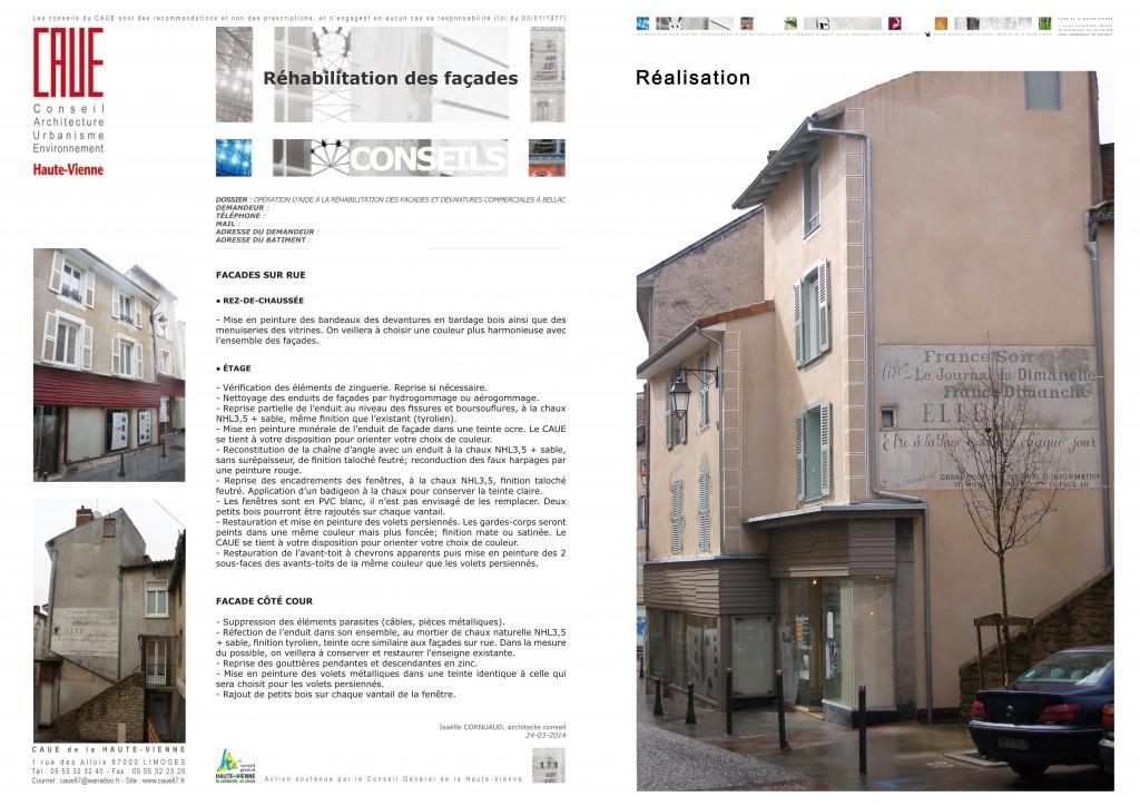 Réhabilitation de façade