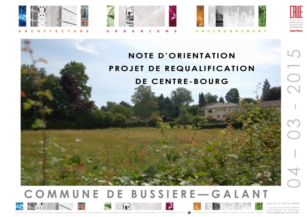 Projet de requalification de centre-bourg