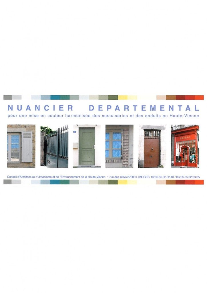 Nuancier facade maison perfect carte de voeux a faire soi for Coloris peinture facade